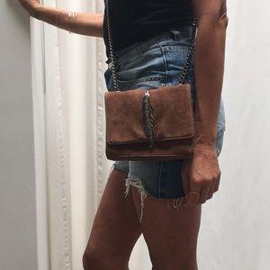 Zara feather crossbody purse